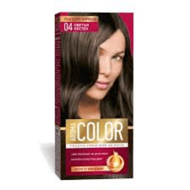 Оферта на Боя за коса АROMA Color No04 Светъл Кестен за 2,99 лв.