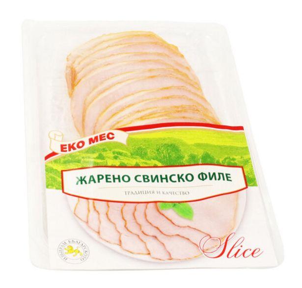 Оферта на Жарено свинско филе ЕКО МЕС слайс 150гр за 4,39 лв.