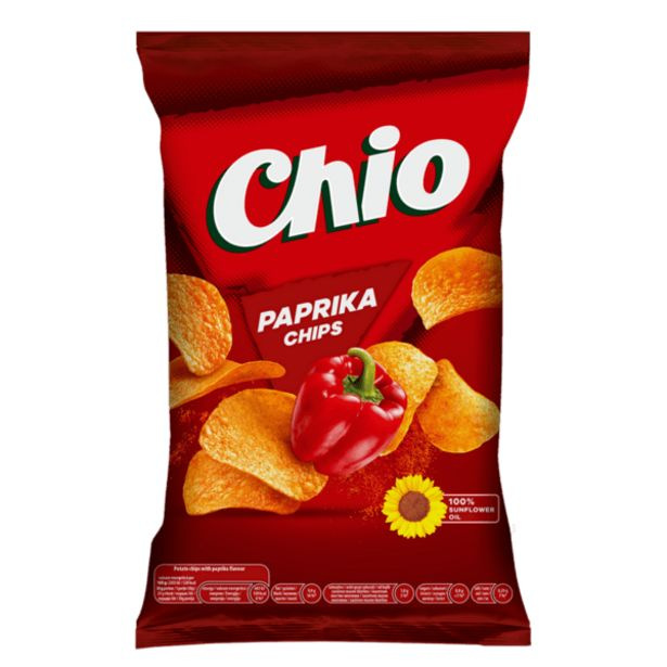 Оферта на Чипс CHIO паприка 140 г за 1,69 лв.