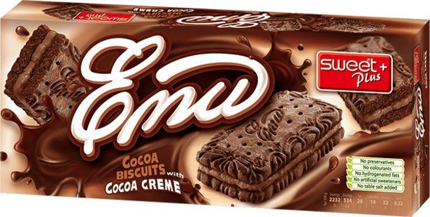 Оферта на Бисквити ЕМИ какаов крем 150 г за 1,69 лв.