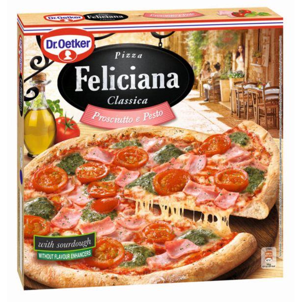 Оферта на Замразена пица FELICIANA прошуто с песто 360г за 4,39 лв.