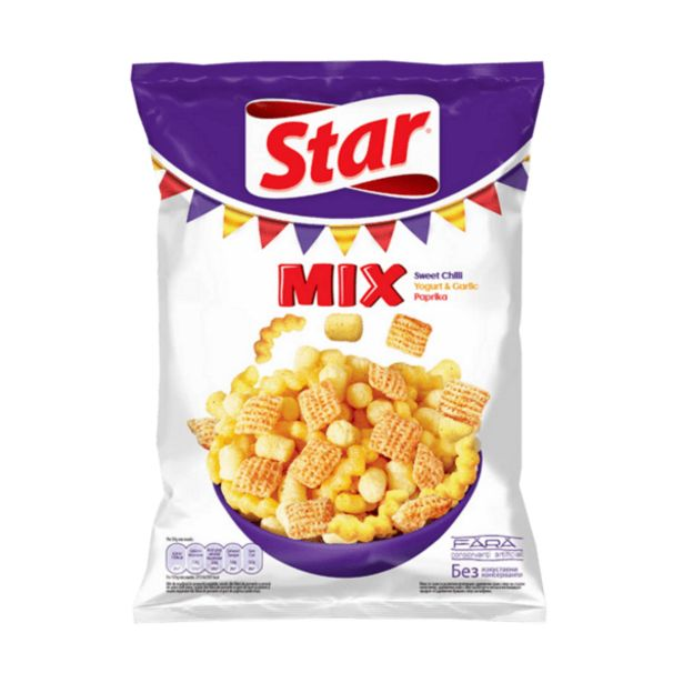 Оферта на Снакс STAR MIX чили 90гр за 0,99 лв.