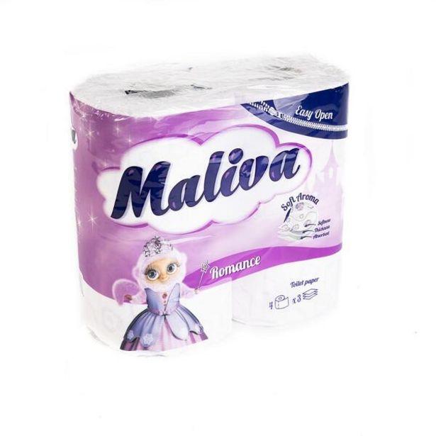 Оферта на Тоалетна хартия MALIVA Romance 4бр 3пл за 2,59 лв.