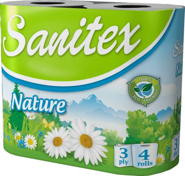 Оферта на Тоалетна хартия SANITEX Nature 4 броя за 1,69 лв.