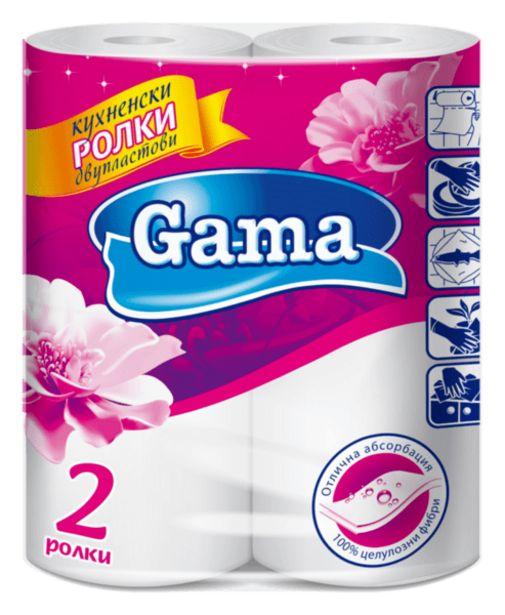 Оферта на Кухненска ролка GAMA 2 пласта 2 броя за 1,29 лв.