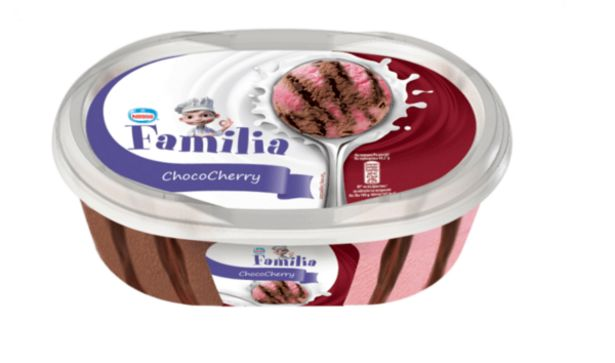 Оферта на Сладолед FAMILIA какао и череша 345 г за 2,76 лв.