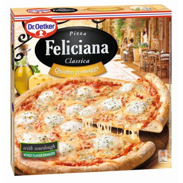 Оферта на Замразена пица FELICIANA четири сирена 325г за 4,39 лв.