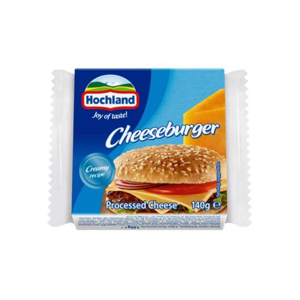 Оферта на Топено сирене HOCHLAND чийзбургер 140 г за 2,49 лв.
