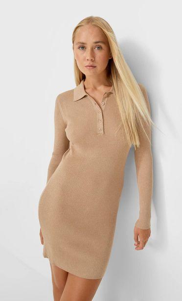 Оферта на Трикотажна рокля с якичка за 39,95 лв.
