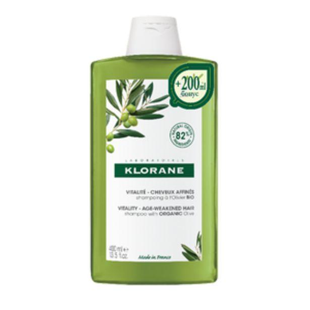 Оферта на KLORANE Шампоан за изтъняла,старееща коса с органична Маслина 400ml на цената на 200ml за 14,87 лв.